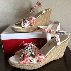 LAST CHANCE: Payless brand Floral Wedges